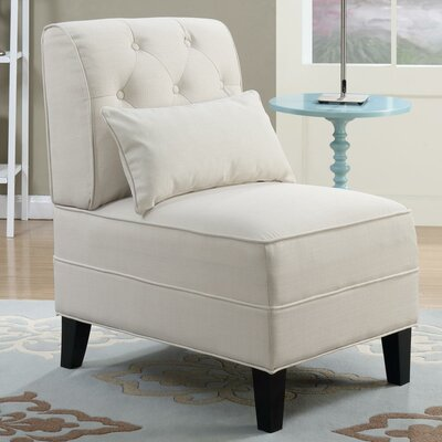Johnathan Tufted Slipper Chair Upholstery: Beige