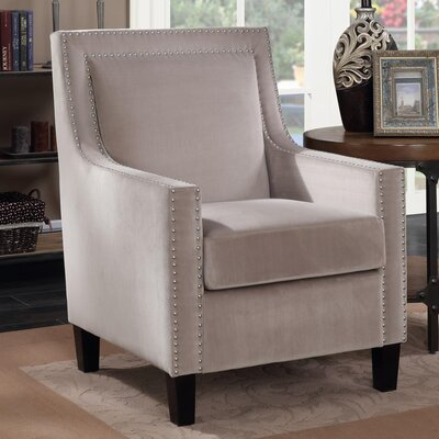 Trenton Velvet Armchair Upholstery: Beige
