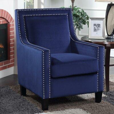 Trenton Velvet Armchair Upholstery: Blue