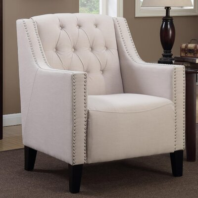 Isabella Tufted Armchair Upholstery: Beige