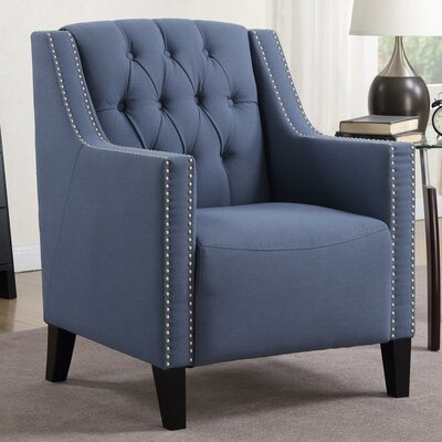 Isabella Tufted Armchair Upholstery: Blue