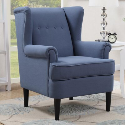 Christian Wingback Armchair Upholstery: Blue