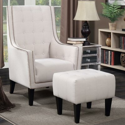 Warwick Armchair and Ottoman