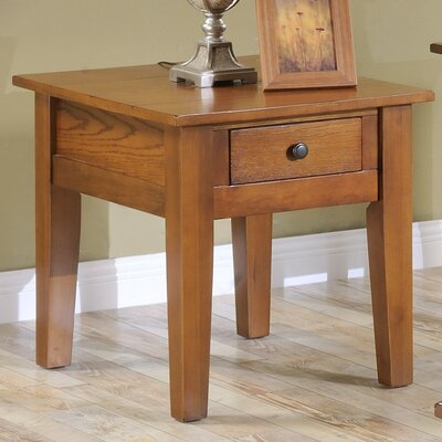 Corvally Square End Table Finish: Oak