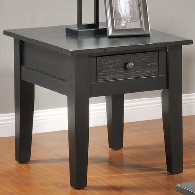 Corvally Square End Table Finish: Black