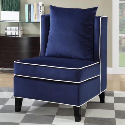 Landen Accent Chair Upholstery: Blue