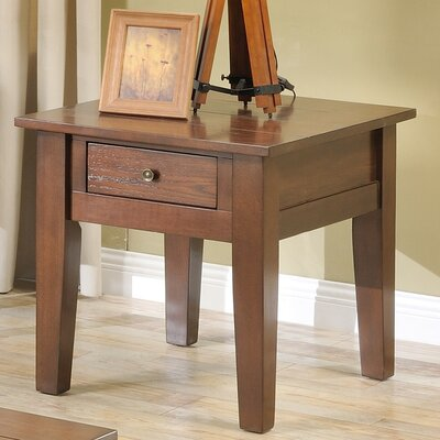 Corvally Square End Table Finish: Cherry