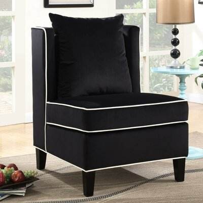 Landen Accent Chair Upholstery: Black