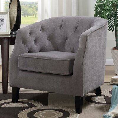 Timberlane Tufted Armchair Upholstery: Gray