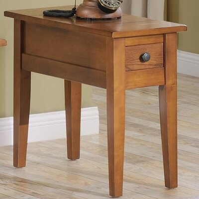 Corvally Rectangle End Table Finish: Oak