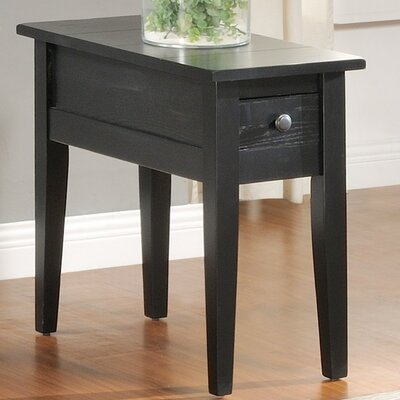 Corvally Rectangle End Table Finish: Black