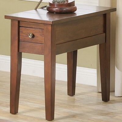Rayburn Rectangle End Table with Storage Color: Cherry