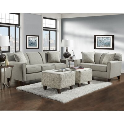 Holthaus 4 Piece Sofa Loveseat and Ottoman Set
