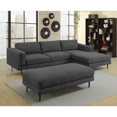 Dibiase Charcoal Sectional Upholstery: Charcoal