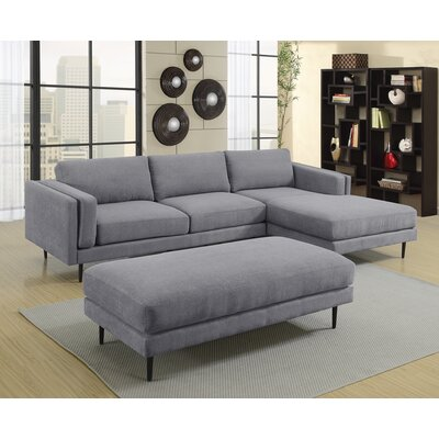 Dibiase Sectional Upholstery: Gray