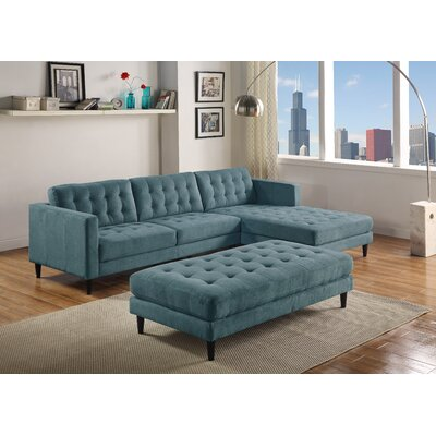 Plamond Sectional Upholstery: Denim