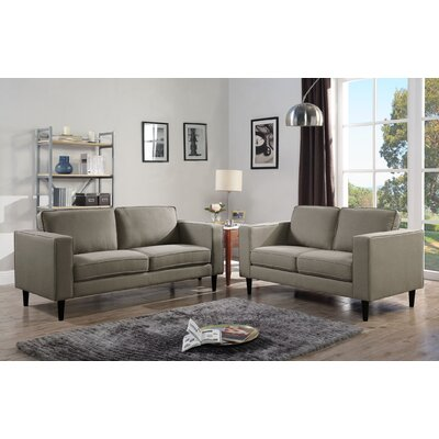 Demps Loveseat Upholstery: Taupe