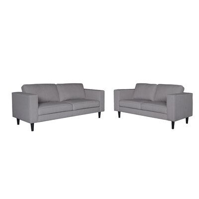 Demps Loveseat Upholstery: Gray