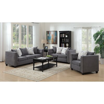 Cheever Loveseat Upholstery: Gray
