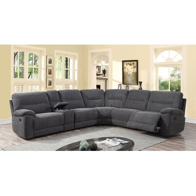Latitude Run LDER1032 Hai Chenille Recliner Sectional