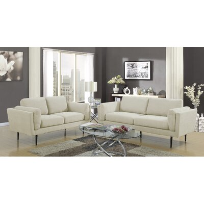 Dibiase Loveseat Upholstery: Beige