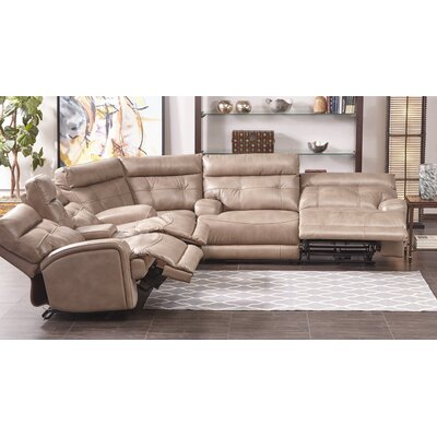 Edgerton Power Leather Gel Recliner Sectional