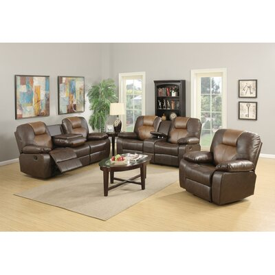 Gladding Bonded Leather Recliner Sofa