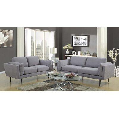 Dibiase Loveseat Upholstery: Gray