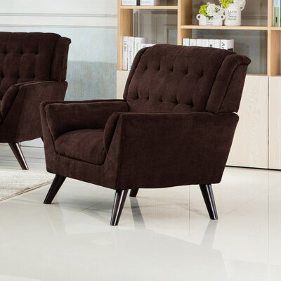 Ron Armchair Upholstery: Brown