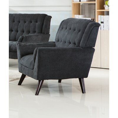 Ron Armchair Upholstery: Gray