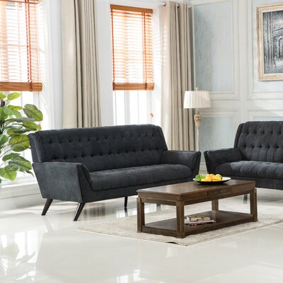Ron Loveseat Upholstery: Gray