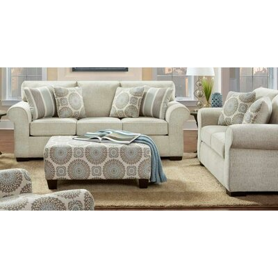 Nannie 3 Piece Sofa Loveseat and Ottoman Set