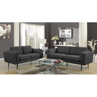 Dibiase Loveseat Upholstery: Charcoal
