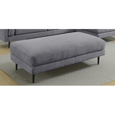 Dibiase Charcoal Ottoman Upholstery: Gray