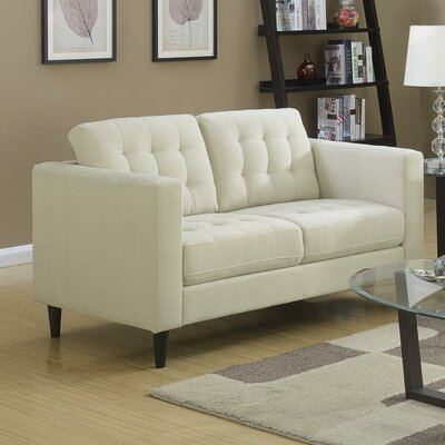 Plamond Loveseat Upholstery: Beige
