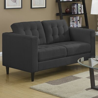 Plamond Loveseat Upholstery: Charcoal