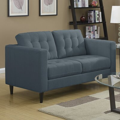 Plamond Loveseat Upholstery: Denim