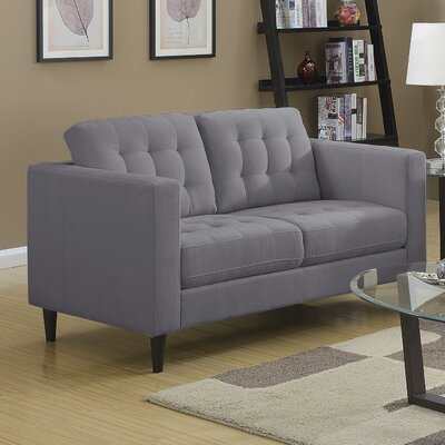 Plamond Loveseat Upholstery: Gray