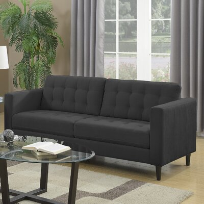 Plamond Sofa Upholstery: Charcoal