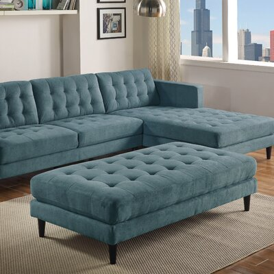 Mcrae Cocktail Ottoman Upholstery: Denim