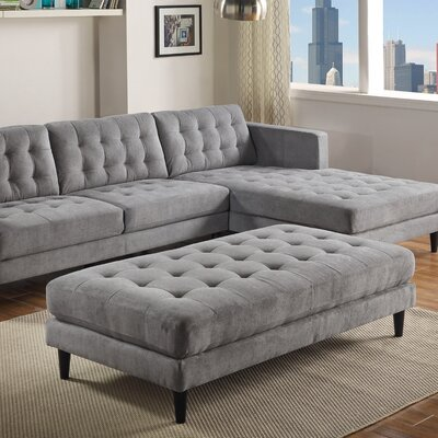Plamond Ottoman Upholstery: Gray