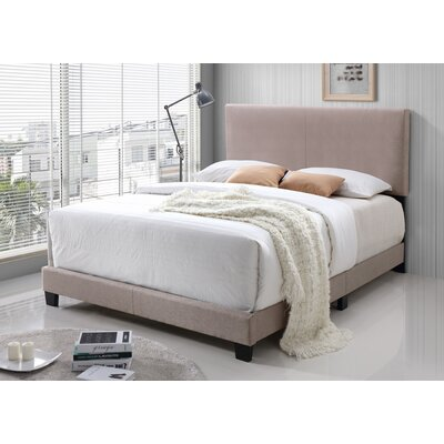 Geiger Upholstered Panel Bed Color: Cream, Size: Full