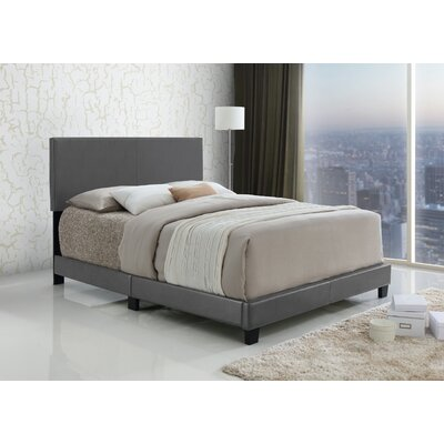 Geiger Upholstered Panel Bed Size: Queen, Color: Gray