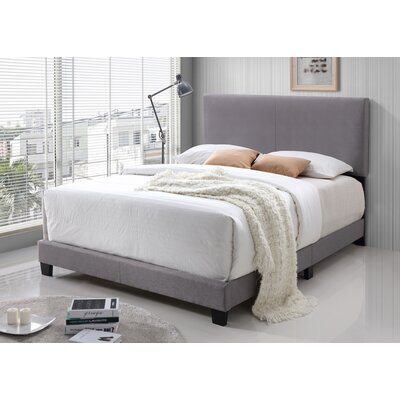 Geiger Upholstered Panel Bed Size: Queen, Color: Light gray