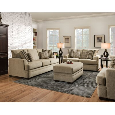 Dot 3 Piece Living Room Sectional with Ottoman