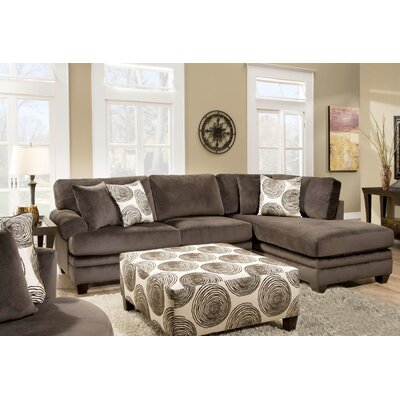 Melia-Teevan Sectional Upholstery: Chocolate Brown