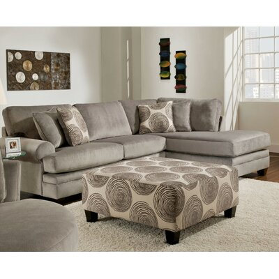 Melia-Teevan Sectional Upholstery: Smoke Gray