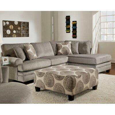 Melia-Teevan Sectional Upholstery: Smoke Gray