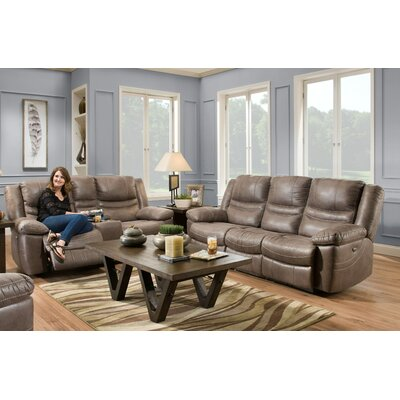 Cristen 2 Piece Living Room Set Upholstery: Ash Brown