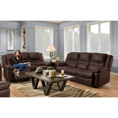 Cristen 2 Piece Living Room Set Upholstery: Espresso Brown